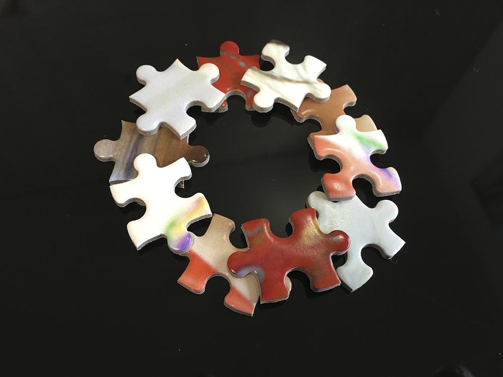 パズルピースで手作りオーナメント5