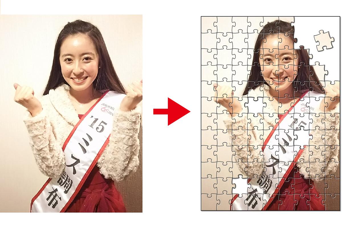 ミス調布2015の3名に写真パズルプレゼント!