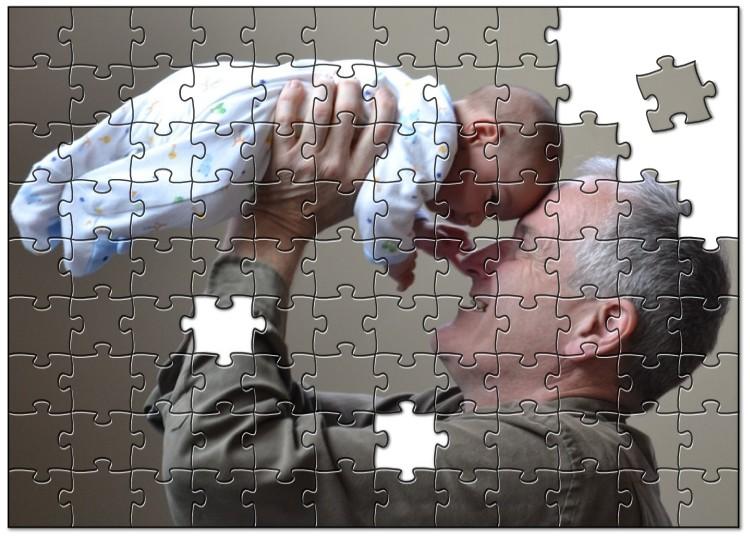実家へ帰省した記念写真からオリジナルジグソーパズルを