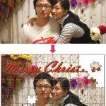 クリスマスに撮った写真を使って、ジグソーパズルを!