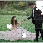 正面でない構図の写真をジグソーパズルにしてウェルカムボードに