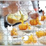 お仕事中の写真でジグソーパズルを製作