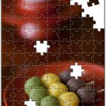 甘味処にジグソーパズルを