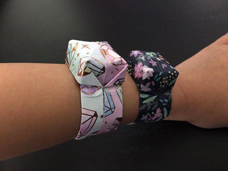 折り紙で折る腕時計