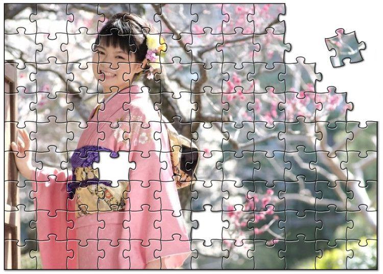 振袖写真でオリジナルジグソーパズルを作成