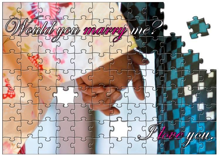 ジグソーパズルを使ってプロポーズを!