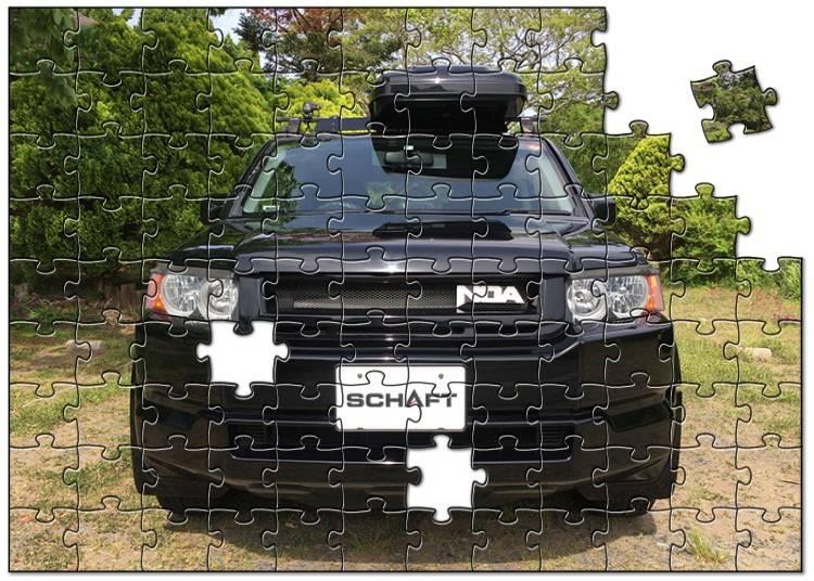 車の画像がジグソーパズルに