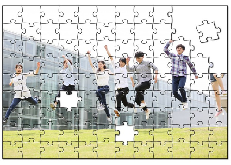 大学卒業記念の写真付きオリジナルパズル
