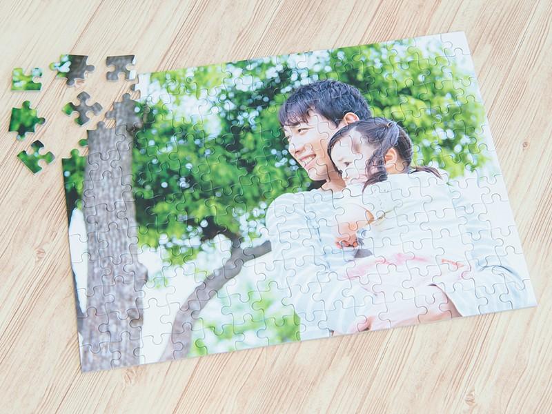 家族集合写真をパズルに