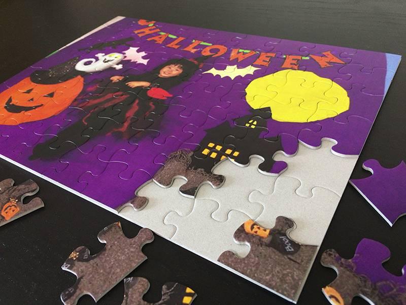 ハロウィン写真がパズルに