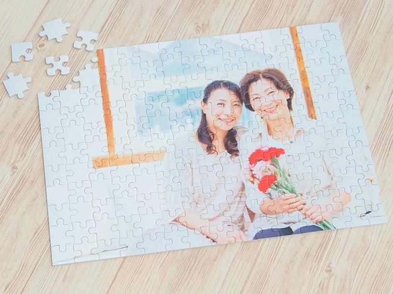 母の月に、オリジナルジグソーパズルをプレゼント